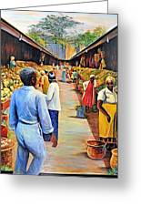 The Market Place Greeting Card