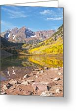 The Maroon Bells Near Aspen Colorado Greeting Card