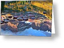 The Maroon Bells Reflected Greeting Card