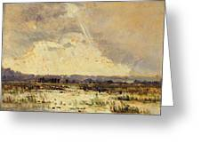 The Marsh In The Souterraine, 1842 Greeting Card