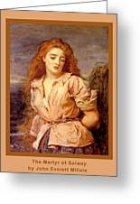 The Martyr Of The Solway Poster Greeting Card
