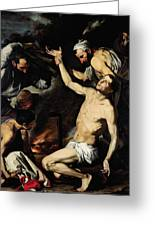 The Martyrdom Of Saint Lawrence Greeting Card by Jusepe de Ribera