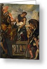 The Martyrdom Of Saint Mena Greeting Card