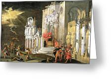 The Martyrdom Of St. Catherine, 17th Greeting Card