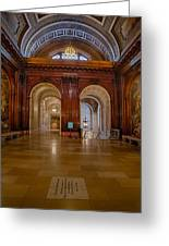 The Mcgraw Rotunda At The New York Public Library Greeting Card