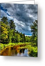 The Meandering Moose River Greeting Card