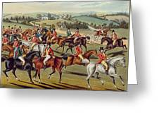 'the Meet' Plate I From 'fox Hunting' Greeting Card