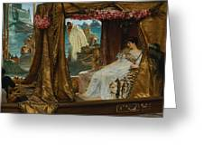 The Meeting Of Antony And Cleopatra  41 Bc Greeting Card