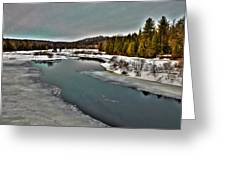 The Melting Of The Moose River In The Adirondacks Greeting Card