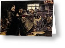 The Menshikov Family In Beriozovo, 1883 Oil On Canvas Greeting Card