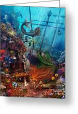 The Mermaids Treasure Greeting Card