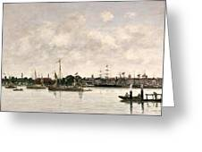 The Meuse At Dordrecht Greeting Card