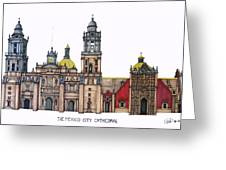 The Mexico City Cathedral Greeting Card