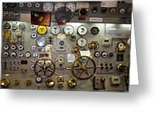 The Midway Throttle Board Greeting Card