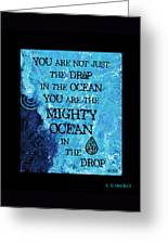 The Mighty Celtic Ocean Greeting Card