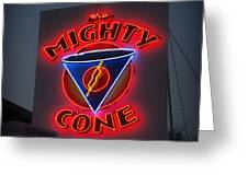 The Mighty Cone Of Austin Texas Greeting Card