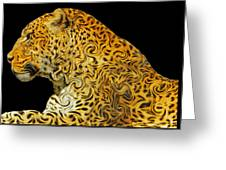 The Mighty Panthera Pardus Greeting Card