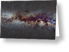The Milky Way From Scorpio Antares And Sagitarius To North America Nebula In Cygnus Greeting Card