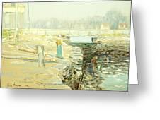 The Mill Dam Cos Cob Greeting Card