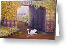 The Mill Swan Greeting Card