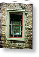 The Mill Window  Greeting Card