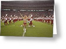 The Million Dollar Marching Band Of The University Of Alabama Greeting Card