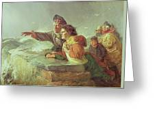 The Missing Boat, C.1876 Greeting Card