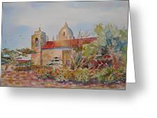 The Mission At Carmel Greeting Card