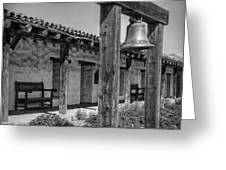 The Mission Bell B/w Greeting Card