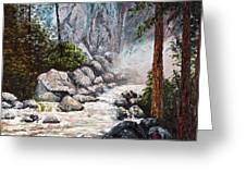 The Mist At Bridalveil Falls Greeting Card
