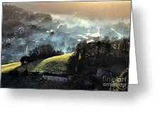 The Mist Covered Valley Greeting Card