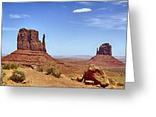 The Mittens Monument Valley Greeting Card