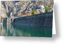The Moat Of Kotor Greeting Card