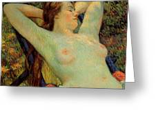 The Model's Siesta Greeting Card