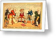 The Modern Job Or John Bull And His Comforts Greeting Card