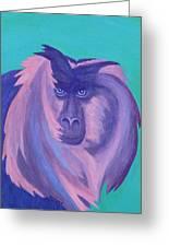 The Monkey's Mane Greeting Card