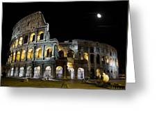 The Moon Above The Colosseum No1 Greeting Card