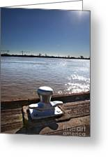 The Mooring Greeting Card by Kay Pickens