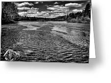 The Moose River At The Green Bridge II Greeting Card