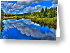 The Moose River From The Green Bridge Greeting Card