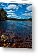 The Moose River In The Spring Greeting Card