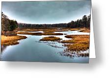The Moose River - Old Forge New York Greeting Card