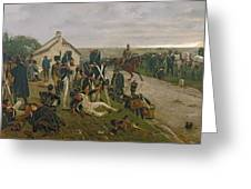 The Morning Of The Battle Of Waterloo Greeting Card