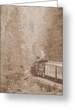 The Morning Train Greeting Card