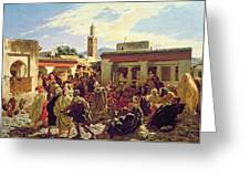 The Moroccan Storyteller Greeting Card
