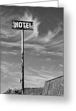 The Motel Bw Palm Springs Greeting Card