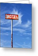 Motel California Palm Springs Greeting Card