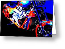 The Motorcycle As Art Greeting Card