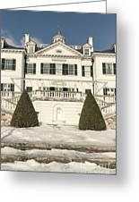 The Mount Edith Warton Estate Lenox Ma Greeting Card