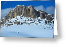 The Mountain Citadel Greeting Card
